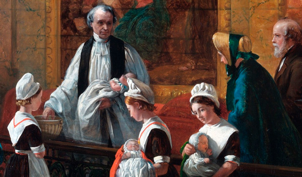 Emma Brownlow, The Christening, 1863, © Coram in the care of the Foundling Museum
