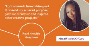 Nkechi describes her involvement in #realstoriesofcare