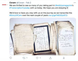 Transcription Tuesday Twitter